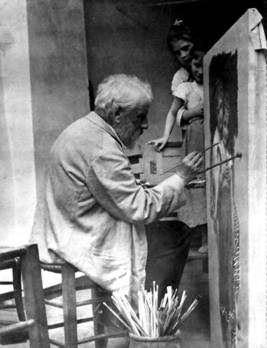 Адольф Вильям Бугро в своей студии