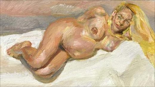 Portrait d'une femme enceinte, Jerry Hall, vendu aux enchères de Sotheby's pour près d'un million de dollars