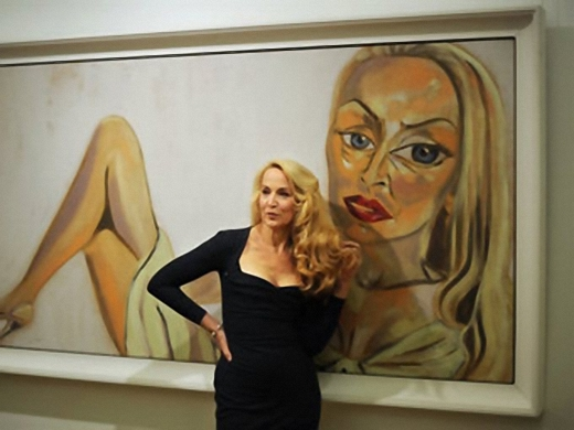 Portrait of the pregnant Jerry Hall sold at Sotheby's auction for almost a million dollars